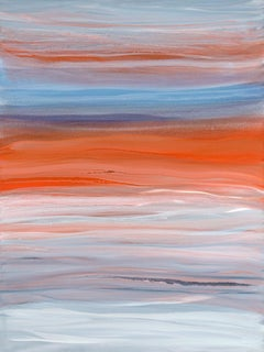 'Orangesicle', contemporary abstract acrylic painting
