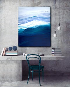 'Saltwater', Large Contemporary Abstract Ocean-inspired Painting