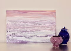 'Sugar Plum', Abstract Coral, Pink, White, Purple Acrylic Painting