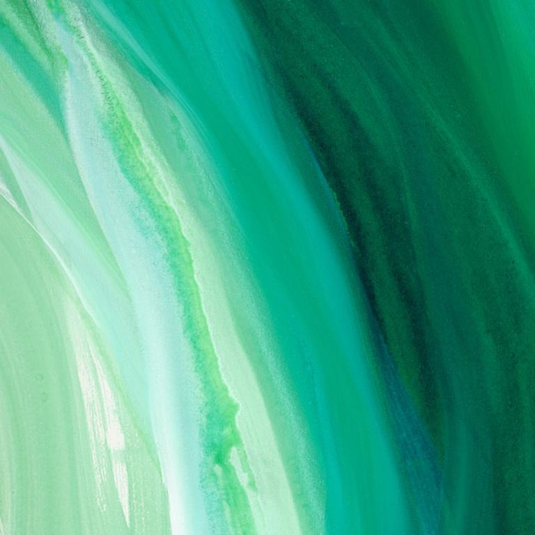 'Velveteen', Large Contemporary Abstract Green Acrylic Painting For Sale 3