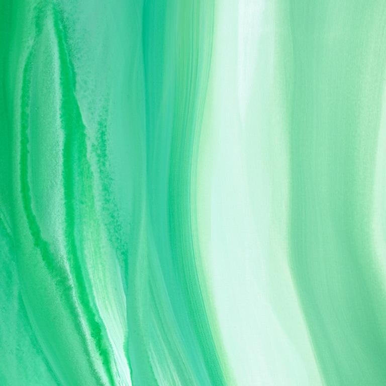 'Velveteen', Large Contemporary Abstract Green Acrylic Painting For Sale 4