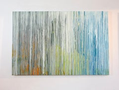 'White Cascade', Large contemporary abstract acrylic painting