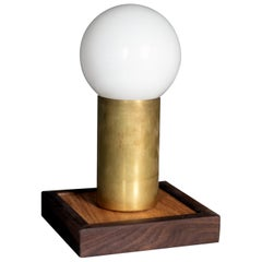 Teoya Brass And Wood Table Lamp