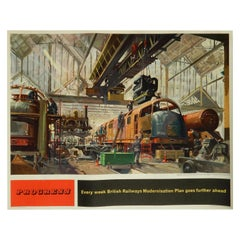 Terence Cuneo British Railway Poster, Original Vintage Lithograph, 1957-1958
