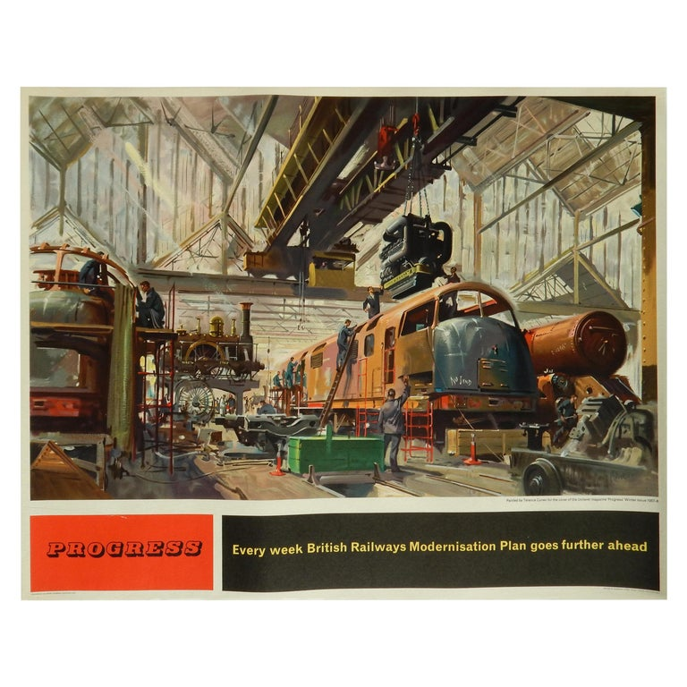 Terence Cuneo British Railway Poster, Original Vintage Lithograph, 1957-1958 For Sale