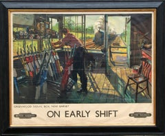 On Early Shift, Modern British Poster 1945