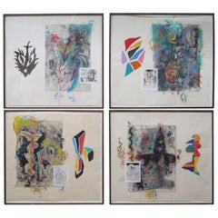 """Terence La Noue Mixed-Media on Paper from """"The Ritual Series"""""""