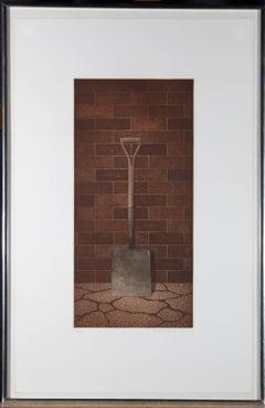 Terence Millington (b.1943) - Contemporary Aquatint, The Shovel