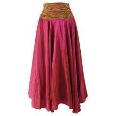 Terence Nolder Vintage Pink Taffeta Maxi Ball Skirt