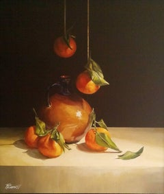 Still Life of  Clementine's and Greek pot