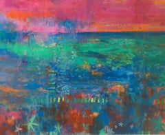 Teresa Pemberton, Floating Garden 2, Abstract Art, Affordbale Art, Floral Art