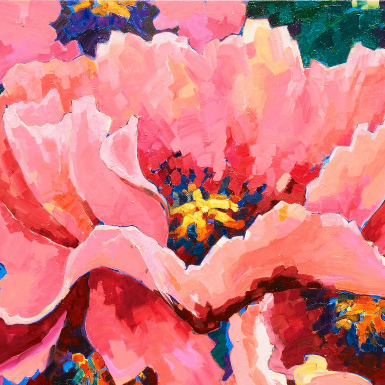 Post-Impressionist Floral Still Life, 'Poppies', Canadian Woman Artist  For Sale 1