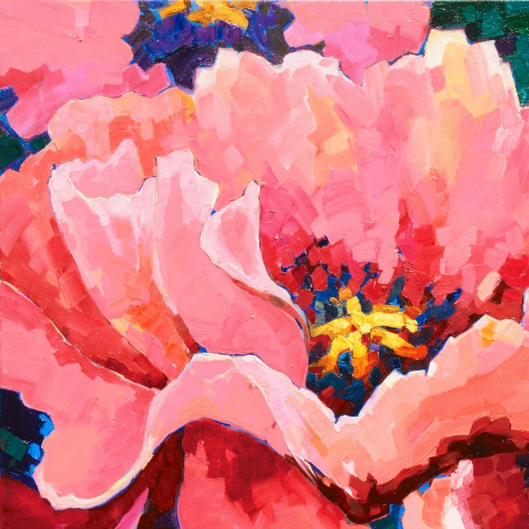 Post-Impressionist Floral Still Life, 'Poppies', Canadian Woman Artist  For Sale 2