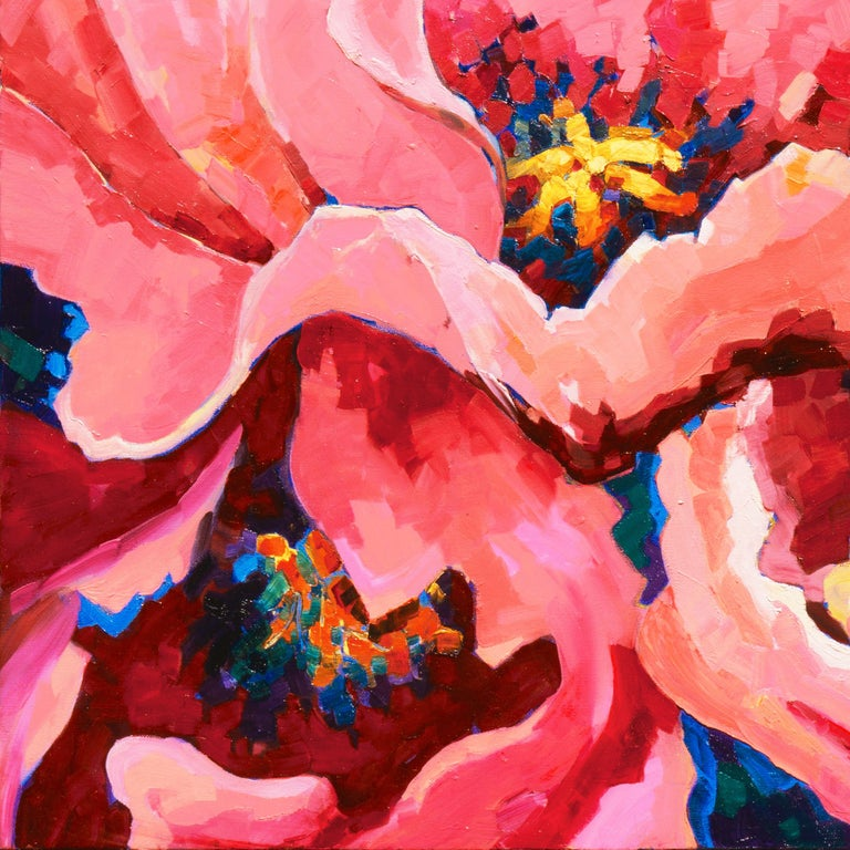 Post-Impressionist Floral Still Life, 'Poppies', Canadian Woman Artist  For Sale 3