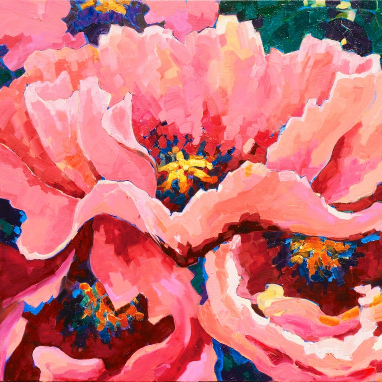 Post-Impressionist Floral Still Life, 'Poppies', Canadian Woman Artist  For Sale 4