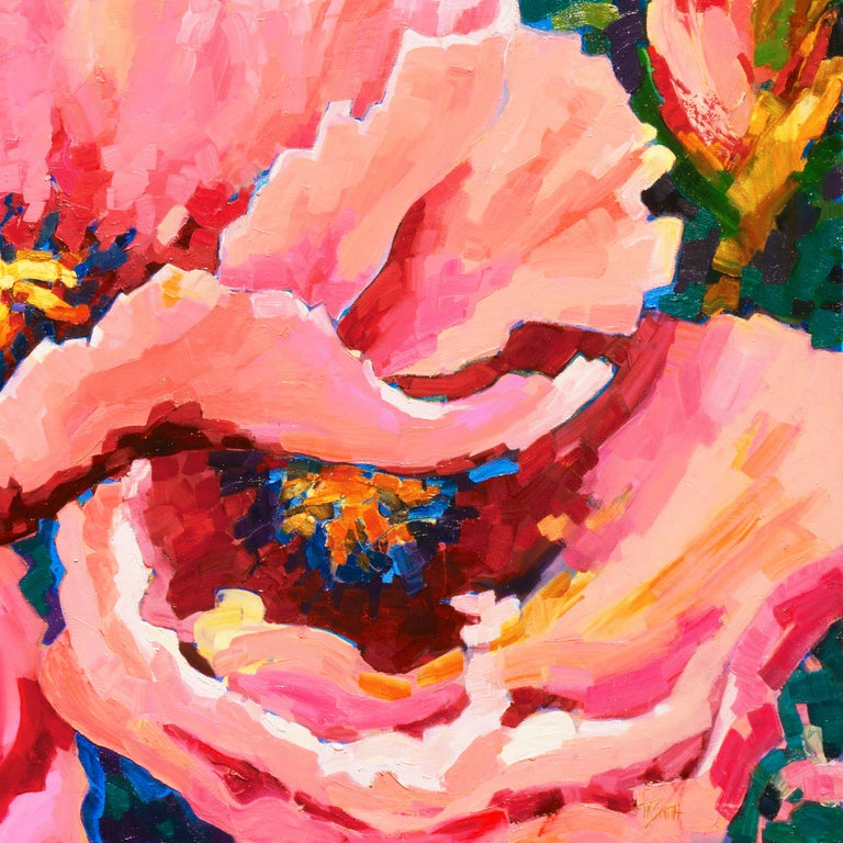 Post-Impressionist Floral Still Life, 'Poppies', Canadian Woman Artist  For Sale 5
