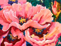 Poppies  (Woman Artist, Post-Impressionism, Semi-Abstract, Floral)