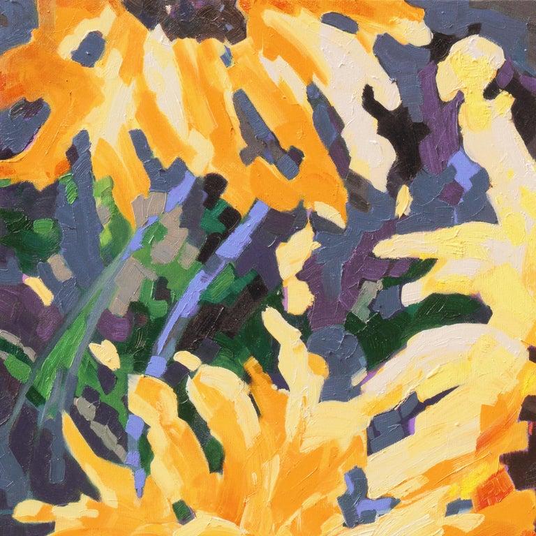 'Sunflower I', Canadian Woman Artist, Large Post-Impressionist Floral Still Life For Sale 1