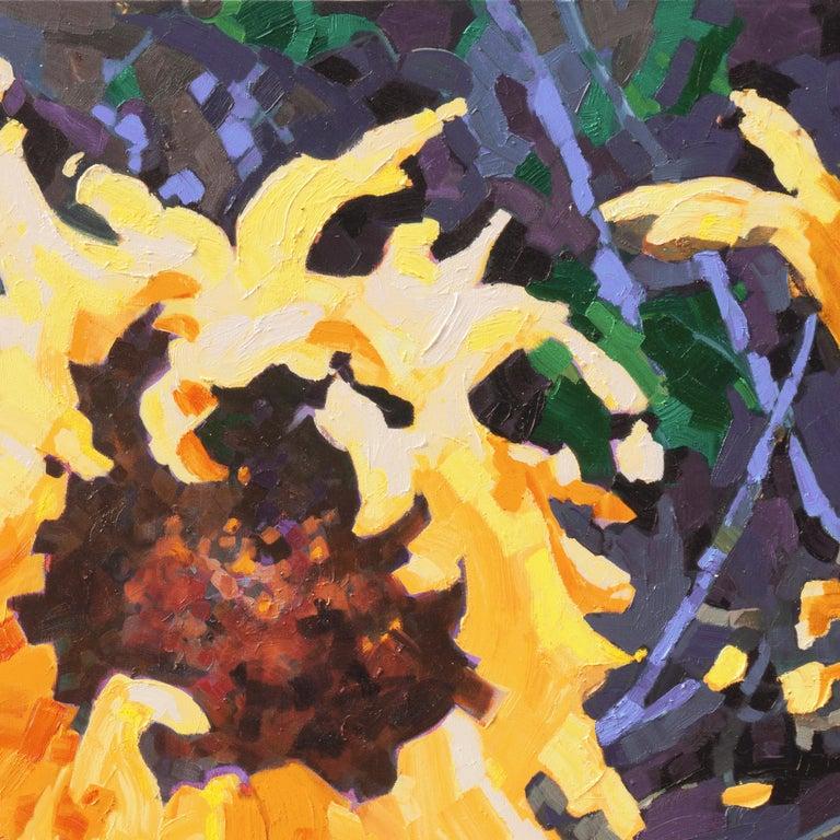 'Sunflower I', Canadian Woman Artist, Large Post-Impressionist Floral Still Life For Sale 2