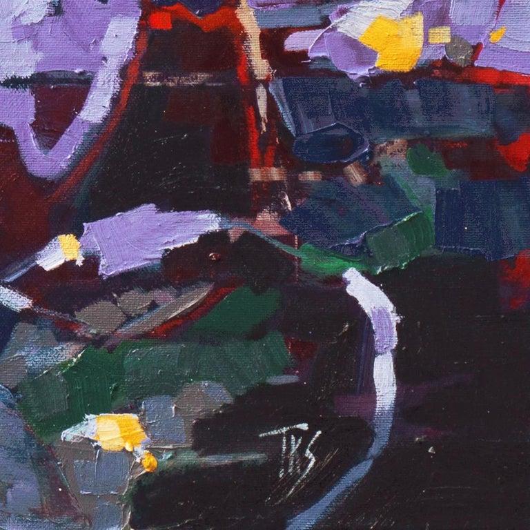 Sunflower II   (Woman Artist, Post-Impressionism, Modern, Semi-Abstract, Floral) 2
