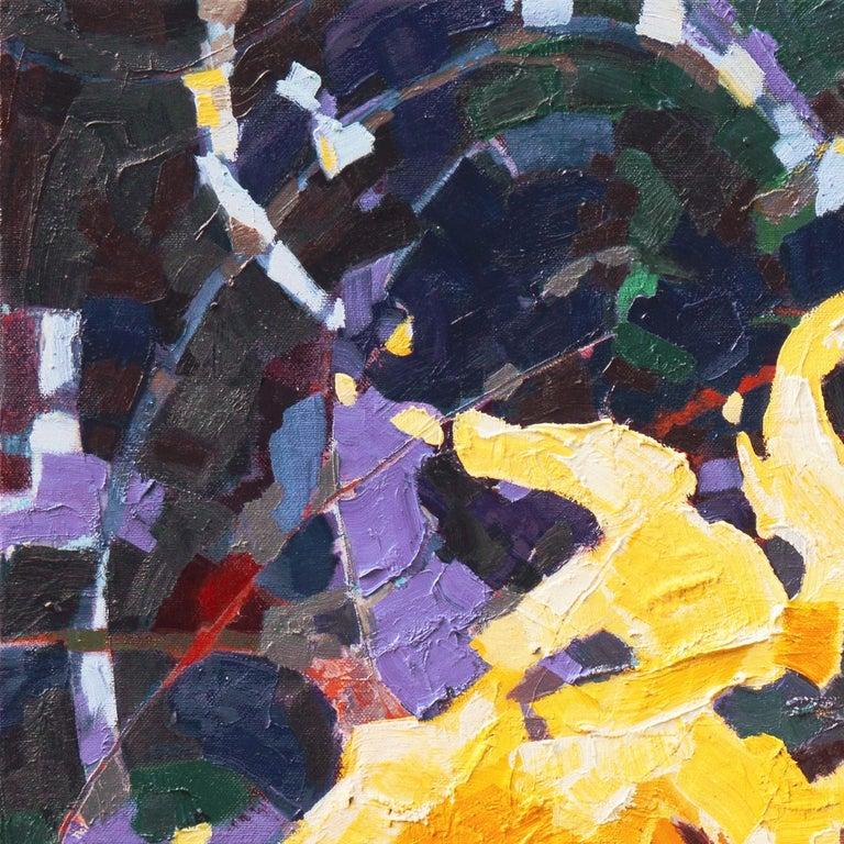 Sunflower II   (Woman Artist, Post-Impressionism, Modern, Semi-Abstract, Floral) 3