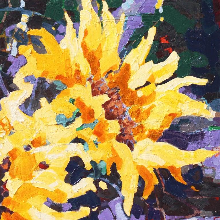 Sunflower II   (Woman Artist, Post-Impressionism, Modern, Semi-Abstract, Floral) 6