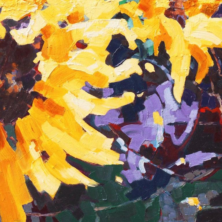 Sunflower II   (Woman Artist, Post-Impressionism, Modern, Semi-Abstract, Floral) 7