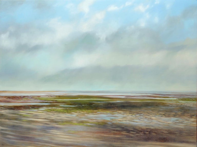 Teri Malo Landscape Painting - Retreating Tide