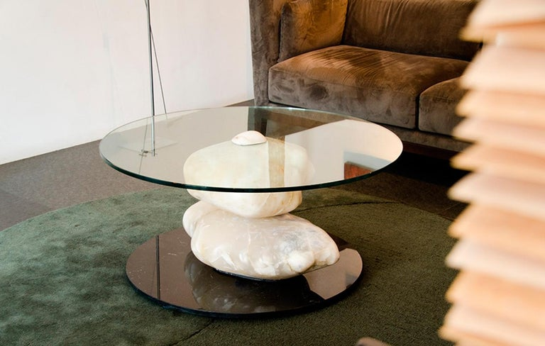 Terra, Alabaster Coffee Table by Amarist Design Studio Unique Piece For Sale 3