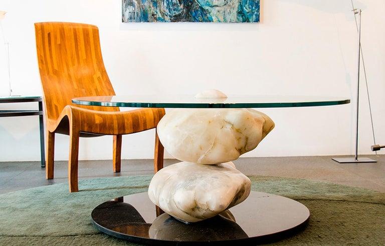 Terra, Alabaster Coffee Table by Amarist Design Studio Unique Piece For Sale 4