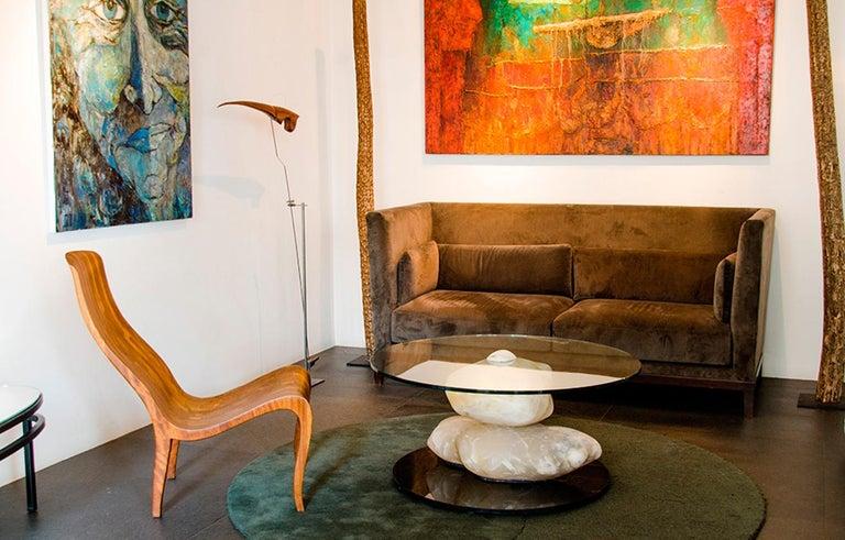 Terra, Alabaster Coffee Table by Amarist Design Studio Unique Piece For Sale 5