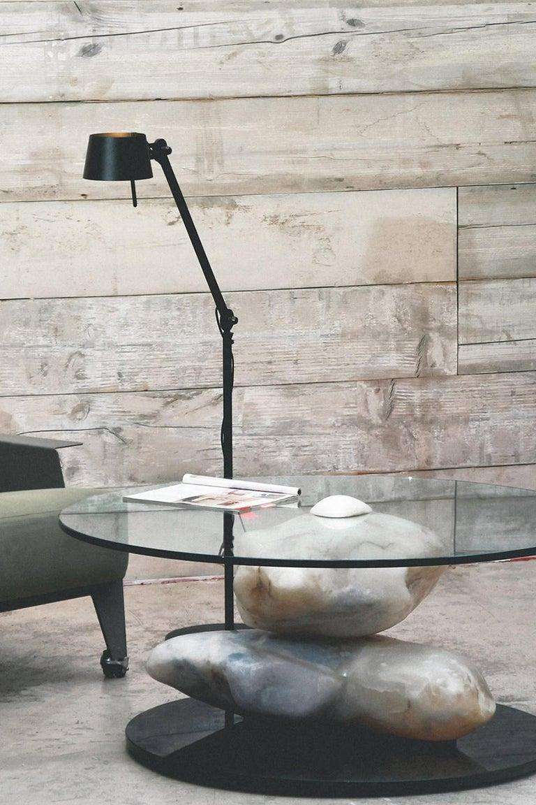 Terra, Alabaster Coffee Table by Amarist Design Studio Unique Piece For Sale 1