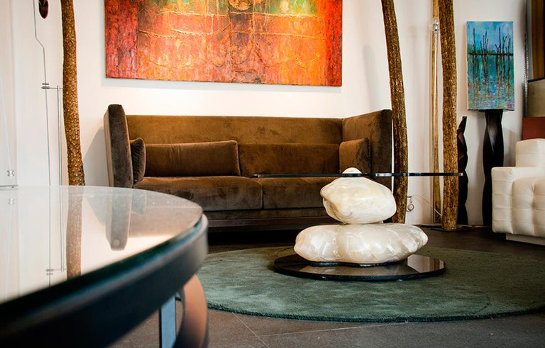 Terra, Alabaster Coffee Table by Amarist Design Studio Unique Piece For Sale 2