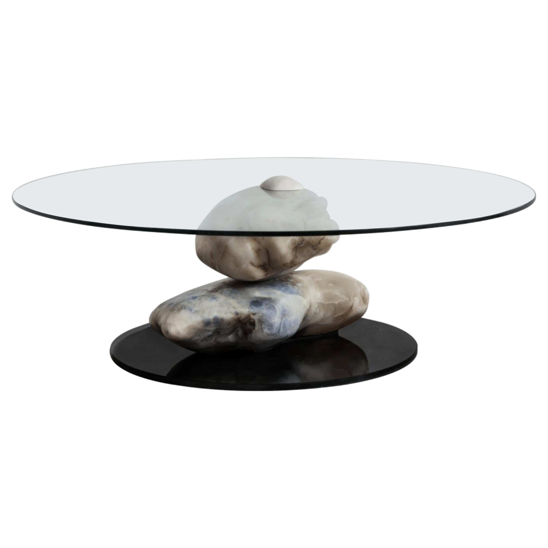 Terra, Alabaster Coffee Table by Amarist Design Studio Unique Piece
