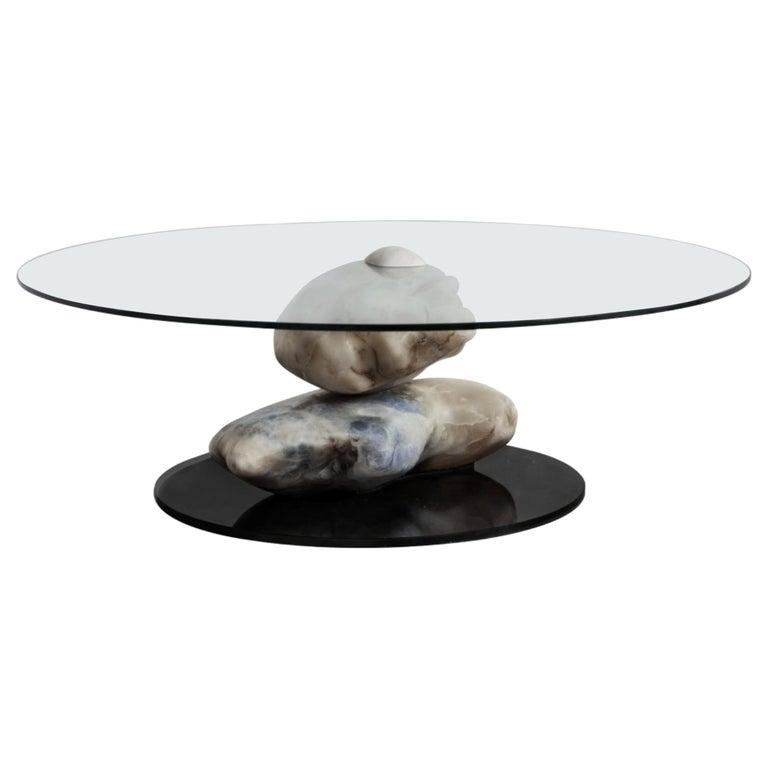 Terra, Alabaster Coffee Table by Amarist Design Studio Unique Piece For Sale