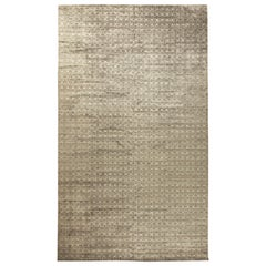 Terra Beige and Brown Rug in Natural Wool