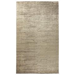Terra Beige and Brown Rug in Natural Wool
