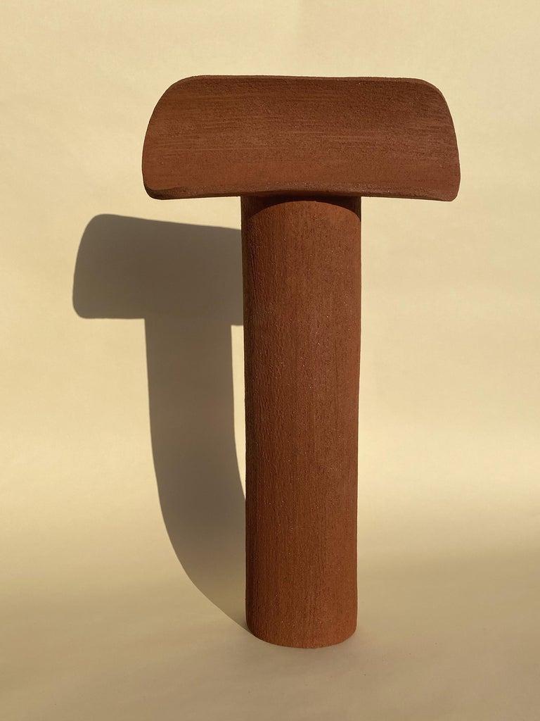 Modern Terra Cotta Large TOTEM by Olivia Cognet For Sale
