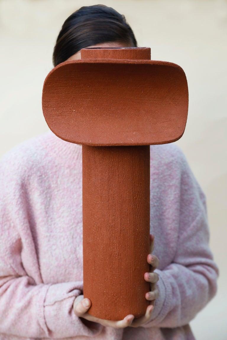 Terra Cotta Large TOTEM by Olivia Cognet For Sale 1