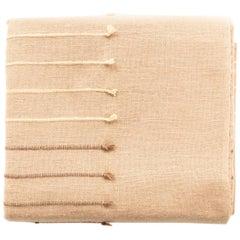 Terra Handloom Queen Size Bedspread/Coverlet in Stripes Design, Neutral Color