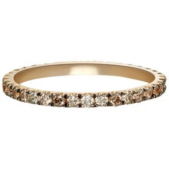 Terra Incognita, Mixed Champagne, Cognac and Grey Diamonds in Yellow Gold