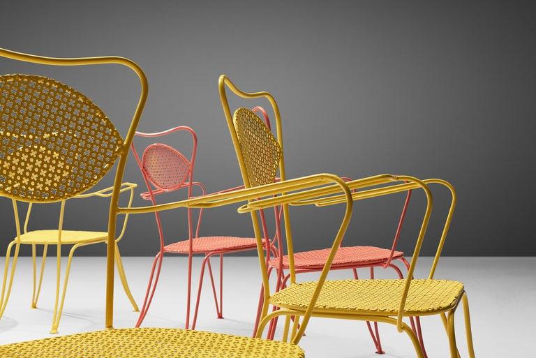 Italian Terra Rosa Orange Patio Outdoor Chair For Sale