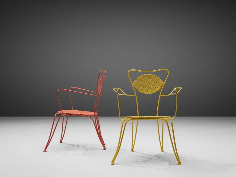 Terra Rosa Orange Patio Outdoor Chair In Excellent Condition For Sale In Waalwijk, NL