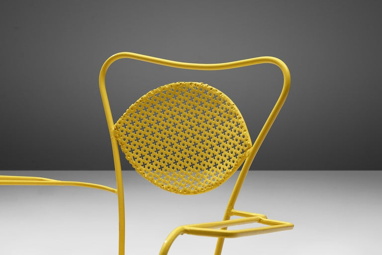 20th Century Terra Rosa Orange Patio Outdoor Chair For Sale