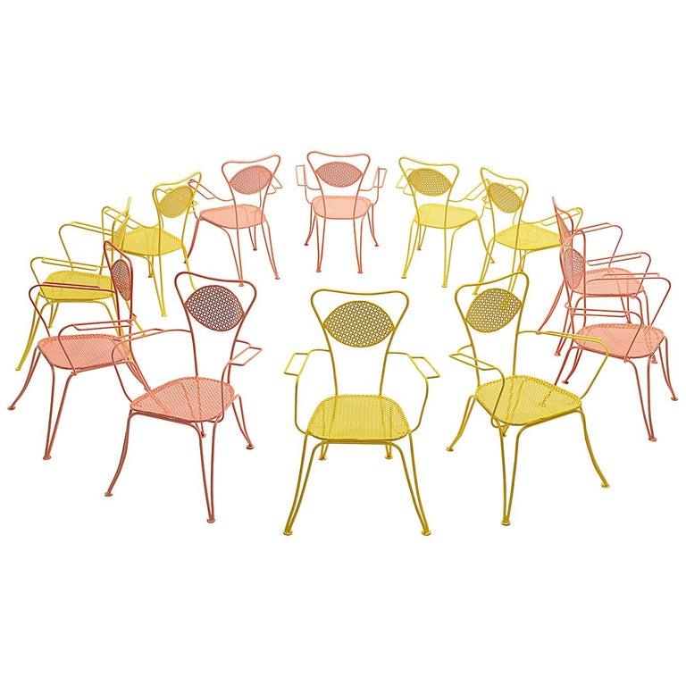 Terra Rosa Orange Patio Outdoor Chair For Sale
