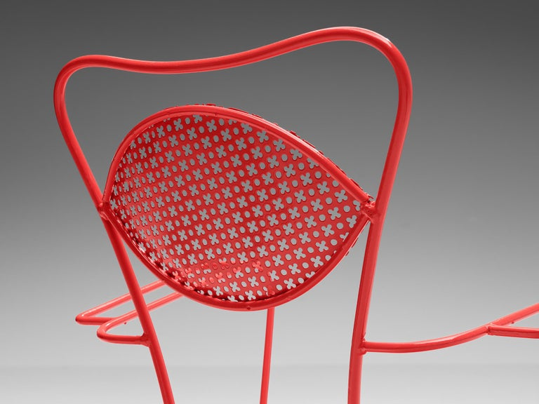 Terra Rosa Red Patio Outdoor Chair For Sale 5