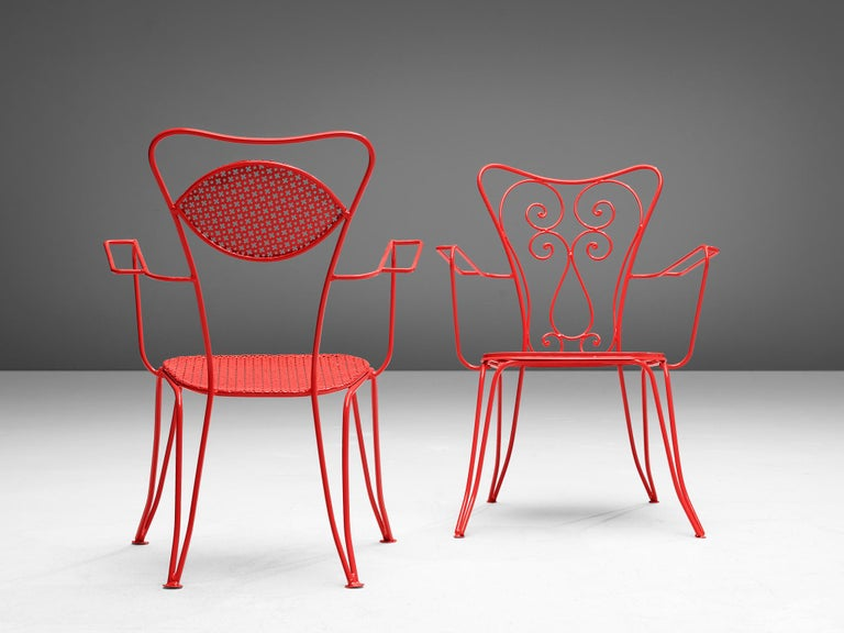 Terra Rosa Red Patio Outdoor Chair For Sale 2
