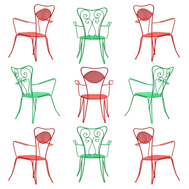 Terra Rosa Red Patio Outdoor Chair For Sale
