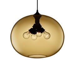 Terra Smoke Handblown Modern Glass Pendant Light, Made in the USA