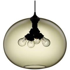 Terra Smoke Handblown Modern Glass Pendant Light, Made in the USA